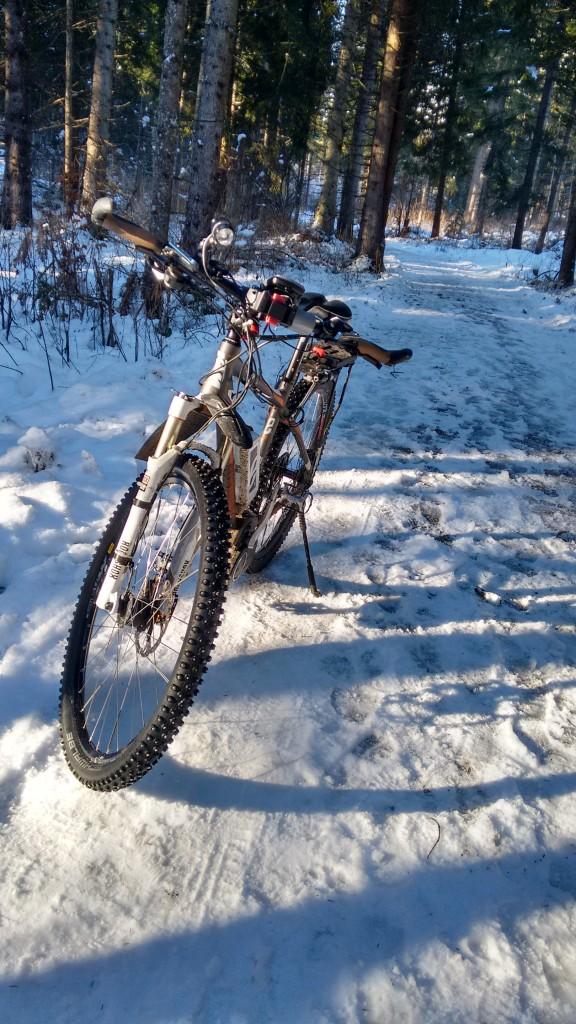 KTM im Schnee